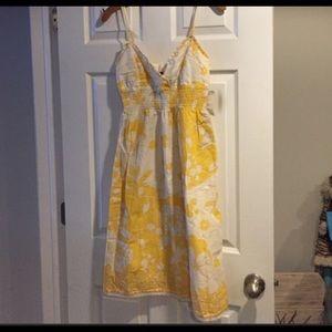 Bisou Bisou yellow and white dress